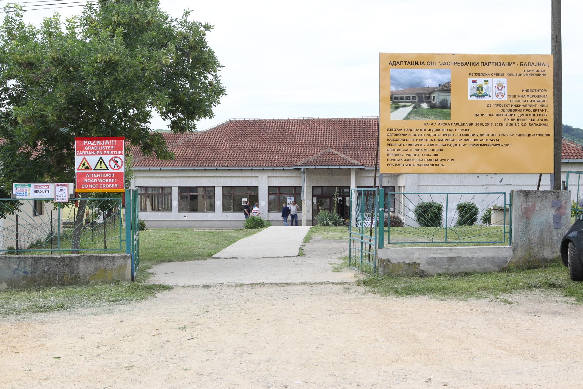 Zvanično otpočeli radovi na rekonstrukciji škole u Balajncu