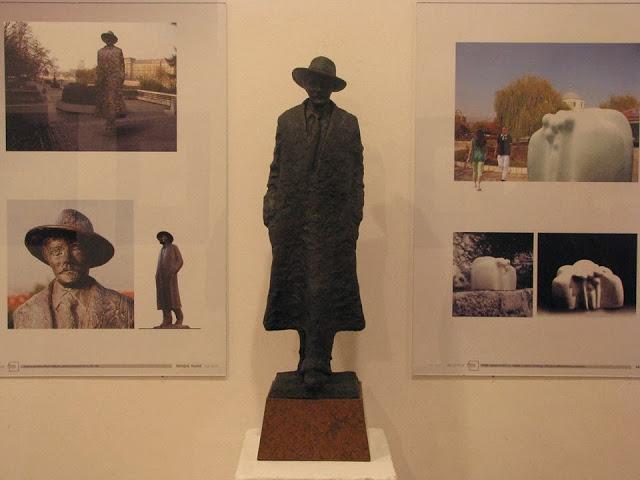 Skulptura Branka Miljkovića, autor Miroljub Kostić