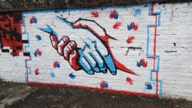 """Photo of Učenici niških gimnazija """"Bora"""" i """"Sremac"""" ulepšali dvorište muralima i novim sadnicama"""