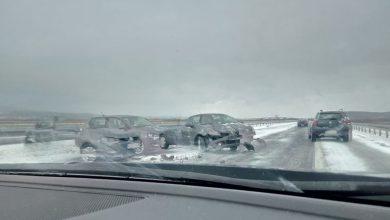 Photo of Lančani sudar tri automobila na auto-putu, povređena jedna osoba