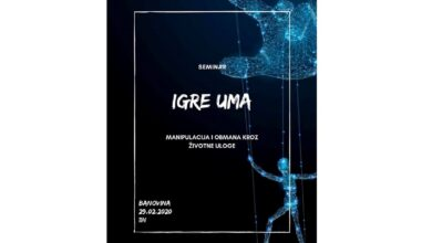 """Photo of """"IGRE UMA"""" – seminar o manipulaciji na Univerzitetu"""