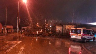 Photo of Zbog oluje palo drvo na električni stub kod pružnog prelaza