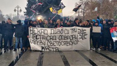 """Photo of Protest """"četničke omladine"""" u Nišu zbog dešavanja u Crnoj Gori"""
