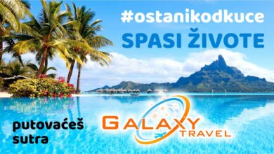 Photo of Ostani kod kuće, putovaćeš sutra – Galaxy Travel