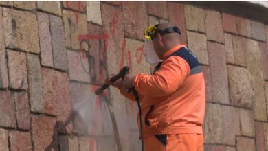 Photo of Odzvonilo grafitima u Nišu! Novom mašinom Mediana čistila grad