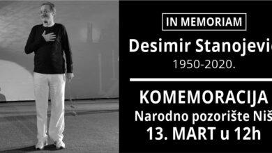 Photo of Komemoracija povodom smrti Desimira Stanojevića u Narodnom pozorištu u Nišu