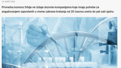 Photo of PKS: Dozvole kompanijama za noćni rad zaposlenih izdaje isključivo Ministarstvo privrede