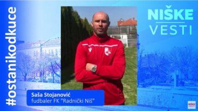 """Photo of OSTANI KOD KUĆE: Saša Stojanović, fudbaler FK """"Radnički Niš"""""""