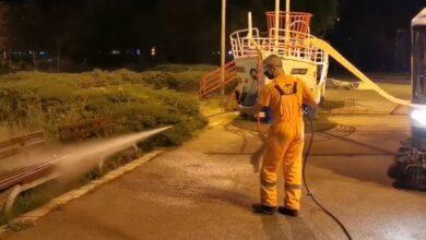 """Photo of JKP """"Mediana"""": Svi parkovi su dezinfikovani (Video)"""