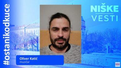Photo of OSTANI KOD KUĆE: Oliver Katić, muzičar