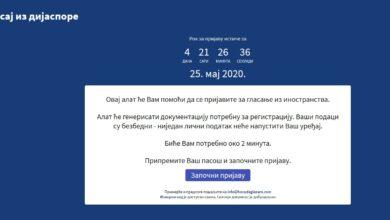 Photo of UPOZORENJE: Lažni sajt za glasanje iz inostranstva