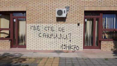 Photo of SRAMOTA: Išarani zidovi vrtića Petar Pan u toku policijskog časa