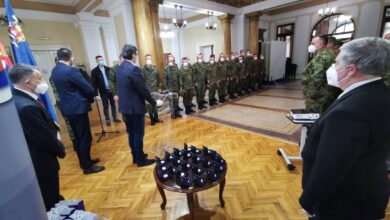 Photo of Svečani prijem za ruske specijaliste u Gradskoj kući