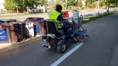 "Photo of JKP ""Parking servis"": Radovi na izmeni saobraćajnih znakova i na zameni sijalica"