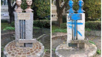 "Photo of Brzom intervencijom JKP ""Mediana"" spomeniku sestrama Baković vraćen stari sjaj"