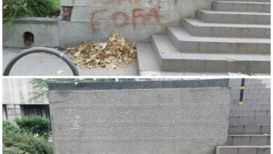 Photo of Očišćeni grafiti sa zgrade Pravnog fakulteta
