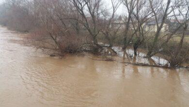 Photo of Poplavljena polja kod Trupala prema Lalilincu, mostovi zatvoreni, izvorište Medijana odbranjeno